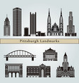 pittsburgh v2 landmarks vector image vector image