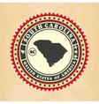 Vintage label-sticker cards of South Carolina vector image