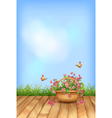 Summer flowers natural background vector image vector image