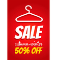 Sale clothes rack vector image