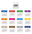 Colorful calendar 2015 vector image