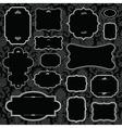 vector black ornate frame set vector image