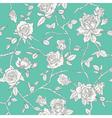 Floral Roses Background - Seamless Vintage Pattern vector image