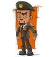 Cartoon army general with beret vector image