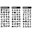 Business money and people icon vector image