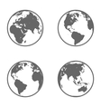 Earth Globe Emblem Icon Set vector image