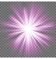 Glowing light burst vector image