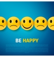 Happy and sad faces group be happy poster vector image