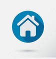 home icon in flat style vector image