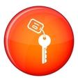 Hotel key icon flat style vector image