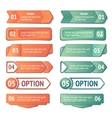 Infographics options and titles banners set vector image