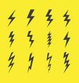 lightning design flat icons set vector image