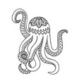 octopus zen tangle and doodle coloring book vector image