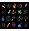 Pyrotechnics and fireworks vector image