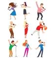 Singing people set vector image