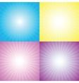 Starburst sunburst vector image