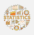 statistics concept vector image