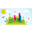 Green city spring time concept vector image