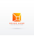 abstract simple geometric logo design vector image