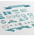 flat isometric infographics background vector image vector image