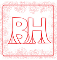 BH monogram vector image vector image