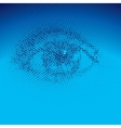 Binary eye vector image