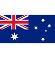 Rectangular Australia flag vector image