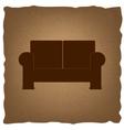 Sofa sign Vintage effect vector image