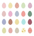 Easter eggs Easter Collection vector image