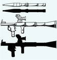 Anti-tank rocket propelled grenade launcher RPG 7 vector image