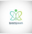 green beauty love logo vector image