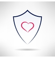 Heart and love simple shield icon vector image