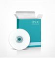 Package cd blue box vector image