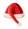 Red christmas hat icon cartoon style vector image