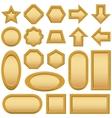Wood frames buttons set vector image