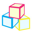 isolated cube toys vector image