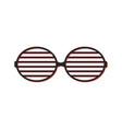 shutter sunglasses simple icon vector image