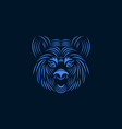 aggressive tiger face line art style illus vector image