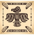 Tribal american eagle sign vector image vector image