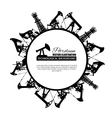 Oil industry circle frame vector image vector image