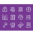 Simple Security and Business icons vector image