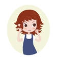 Girl pretending to be a lion Cute horoscope vector image
