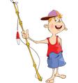fisherman cartoon vector image
