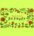 floral background pattern with butterfly and vector image