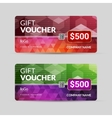 Gift Voucher Template with Colorful Triangle vector image