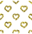 Glitter heart seamless pattern vector image