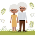Old woman and man design vector image