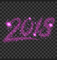 purple particles wave in form of 2018 digits vector image