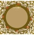 Vintage floral circular frame vector image