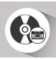 Vinyl disk retro cassette vector image